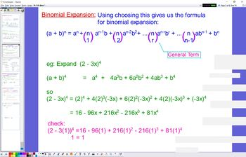 PLY 09 Binomial Expansion