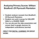 "PLYMOUTH COLONY,  William Bradford's ""Of Plymouth Plantati"