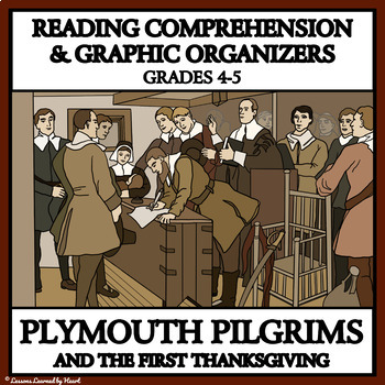 PLYMOUTH PILGRIMS AND THE FIRST THANKSGIVING - READING COMPREHENSION