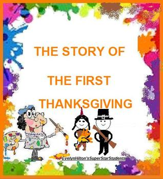 """""""PLYMOUTH ROCK"""" PILGRIMS AND INDIANS THANKSGIVING STORY Grs 3-6! 3pp."""