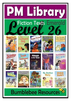 PM Guided Reading Activities Level 26- Emerald - Fiction