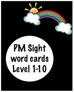 PM Sight Word Cards Level 1-10