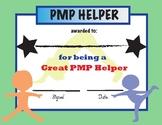 PMP Parent Helper Award