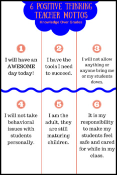 PNG Image - 6 Positive Thinking Teacher Mottos