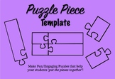 PNG Puzzle Pieces Template on Word Document
