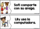 POCKET CHART #2 MATCHING SENTENCES to PICTURES in Spanish