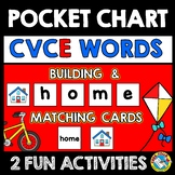 POCKET CHART ACTIVITY 1ST GRADE (LONG VOWEL SILENT E) CVCE