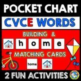 POCKET CHART ACTIVITY 1ST GRADE (LONG VOWEL SILENT E) CVCE CARD PHONICS PRACTICE
