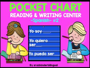 POCKET CHART~READING & WRITING CENTER~ Spanish Kindergarten