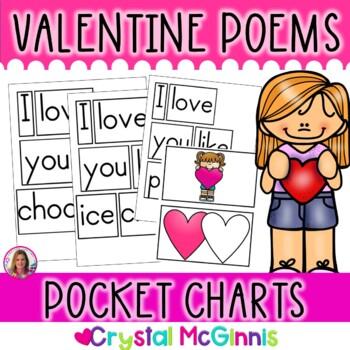 POCKET CHARTS! 13 Valentine Poems for Shared Reading (Pocket Chart Version)