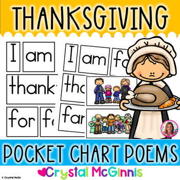 POCKET CHARTS! 15 Thanksgiving Poems for Shared Reading (Pocket Chart Version)