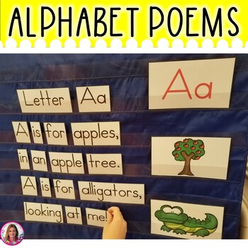 POCKET CHARTS! 26 Alphabet Poems for Shared Reading (Pocket Chart Version)