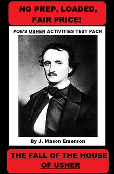POE'S USHER ACTIVITIES TEST PACK with activities, test with the key etc