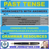 PAST TENSE WORKSHEETS WITH ANSWERS