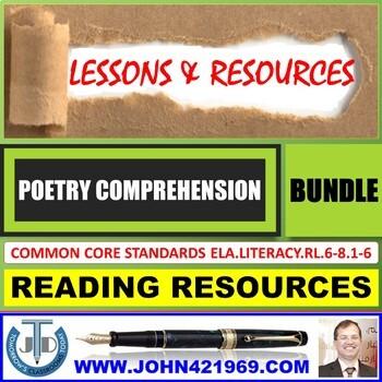POETRY COMPREHENSION - GRADE 8 WORKBOOK: BUNDLE