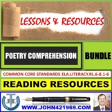 POETRY READING COMPREHENSION - LESSONS AND RESOURCES : BUNDLE