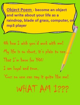 """POEM IN YOUR POCKET DAY - A Simple """"Study-Practice-Publish"""" Writing Activity"""