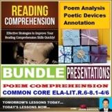 POETRY READING COMPREHENSION - LESSON PRESENTATIONS : BUNDLE