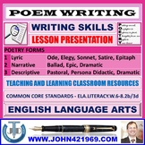POEM WRITING : READY TO USE LESSON PRESENTATION
