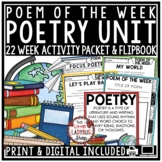 Poem of the Week: Poetry Unit Digital Reading Comprehension Passages & Questions