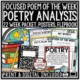 Focused Poem of the Week Poetry Unit Reading Comprehension