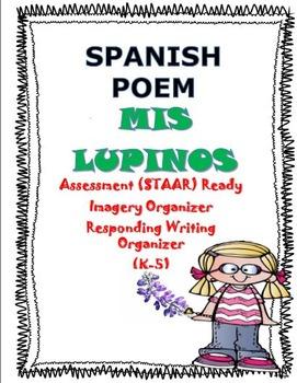 POEMA-Mis Lupinos (SPANISH) Assessment, Imagery, Writing Organizers