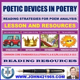 POETIC DEVICES IN POETRY LESSON AND RESOURCES