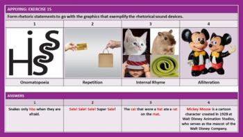 POETIC SOUND DEVICES LESSON PRESENTATION
