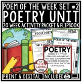 Poem of the Week -Poetry Comprehension Passages 4th Grade, 5th Grade Poetry Unit