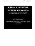 POETRY ANALYSIS FORMATIVE ASSESSMENT