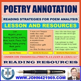 POETRY ANNOTATION LESSON AND RESOURCES