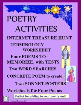 POETRY Activities: Internet Treasure Hunt, Memorize, Compare Genres