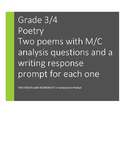 POETRY: Two Poems to Analyze, Compare. Gr 3/4. M/C questio