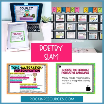POETRY UNIT- Elements of Poetry, Poetry Booklet, Poetry Analysis, Poetry Center