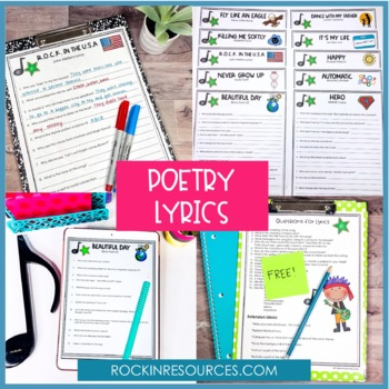 POETRY BUNDLE | Elements of Poetry | Poetry Analysis | Distance Learning