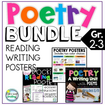 POETRY Reading and Writing Bundle ~ Poetry 2nd Grade and 3rd Grade