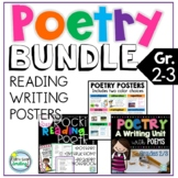 POETRY Unit Reading and Writing Bundle ~ Poetry 2nd Grade and 3rd Grade
