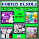 POETRY BUNDLE! Literacy stations, poetry analysis, poetry