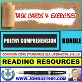 POETRY READING COMPREHENSION - TASK CARDS AND EXERCISES : BUNDLE