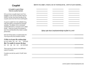 POETRY - Couplet & Terse Verse