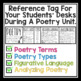POETRY DESK TAGS: Student Poetry Reference