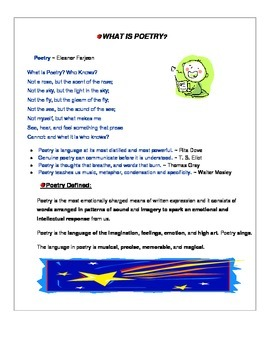 POETRY (Elements, Tools, Types, Examples, & Quiz