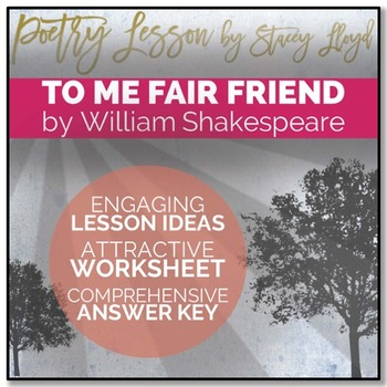 POETRY LESSON: 'Sonnet 104: To Me, Fair Friend' by Shakespeare