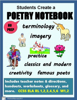 POETRY UNIT for a Poetry Notebook