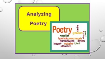 POETRY STATION ppt : Analyzing a poem
