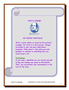 POETRY STATION: Figurative Language - Final activity