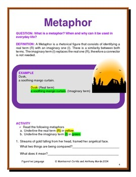 POETRY STATION: Figurative Language - Metaphor