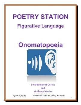 POETRY STATION: Figurative Language - Onomatopoeia