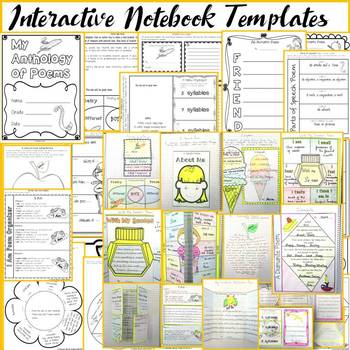 POETRY TYPES: INTERACTIVE NOTEBOOK