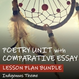 POETRY UNIT - COMPARATIVE ESSAY Lesson Plan BUNDLE - Indig